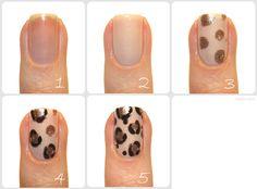 Leopard nails tutorial