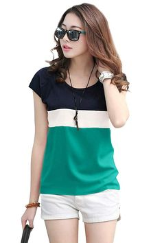 Girls Top Smooth Thin Crepe Feel Really Good & Comfort. Allover Color Block Layered New Casual Design. Cap Sleeve and 24 Inches Long in Height. Ideally For Years Women To Pair with Shorty, Jeans, Pant, etc. Casual Tops For Women, Trendy Tops, Half Sleeves, Types Of Sleeves, Short Sleeves, Vegan Fitness, Bollywood, Western Wear For Women, Diy Couture