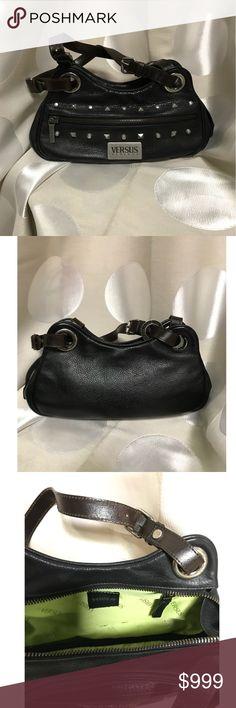 Versace black studded purse! Black Versace studded shoulder bag in great condition! Versace Bags Shoulder Bags
