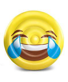 Loving this Tears of Joy Emoji Pool Float on #zulily! #zulilyfinds