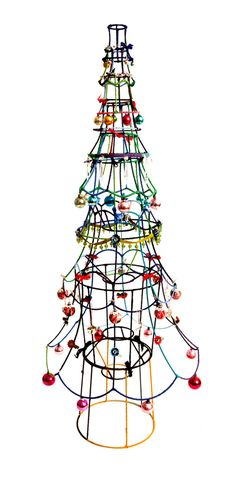 Lampshade Christmas tree from Sarah Moore Vintage.