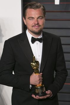 Pin for Later: 11 Special Moments Leonardo DiCaprio and His Oscar Have Already Spent Together