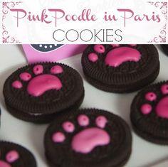 Pink Poodle in Paris Cookies #paris #cookies