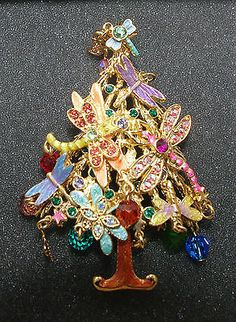 Kirks Folly Dragonfly Fantasy Flight Holiday Christmas Tree Pin Enhancer Brooch | eBay