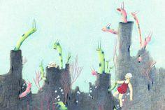 "Illustrations for ""La Piscina"" - Ji Hyeon Lee"