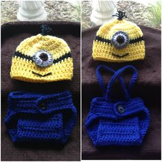 Crochet Despicable Me Minion Baby Hat and by BeesYarnCreations