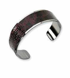 Stainless Steel Stingray Faux Leather Cuff Bracelet VistaBella. $41.99. Save 80% Off!