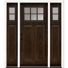 Classic front Door with one panel sidelight 1/4 | Front ...