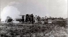 """The Battle of STALINGRAD. The German offensive from Gruppe Drumpen against Soviet defensive positions in the area of Stalingrad Spartakovka in the morning on August 24, 1942 year, was preceded by artillery bombard Cannon 88 mm guns, as well as bombs dropped the bombers Junkers Ju 87B Stuka """"."""