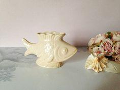VINTAGE FISH PLANTER Old ceramic fish by AnnmarieFamilyTree