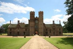 Oxburgh Hall, Norfolk was the home of the Bedingfeld family since the century. The house has a priest hole that can be crawled inside and needlework of Mary, Queen of Scots are some of the many interesting things to be seen. Estilo Tudor, English House, 15th Century, British History, Priest, Norfolk, My House, Country Houses, Mansions
