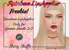 Second Life Genesis Rainbow Lip Freebie. Second Life Freebies. Rainbow lip applier for the Genesis Head 2.0, available on marketplace for free...