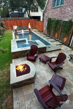 Backyard Patios and Fire Pits . Backyard Patios and Fire Pits . 20 Modern Diy Firepit Ideas for Your Yard This Year Backyard Ideas For Small Yards, Backyard Pool Landscaping, Small Backyard Landscaping, Swimming Pools Backyard, Landscaping Ideas, Patio Ideas, Indoor Pools, Garden Ideas, Lap Pools