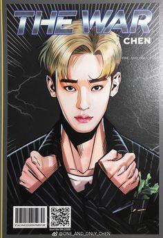 #Chen #EXO Chanyeol Baekhyun, Exo Kai, Kpop Exo, Exo Anime, Exo Fan Art, Kpop Posters, The Power Of Music, Xiuchen, Kpop Drawings