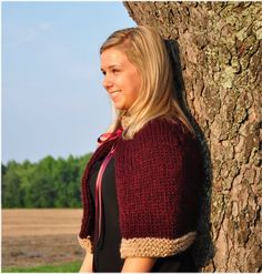 Crochet and Knit Capelet at TheEdgeof17