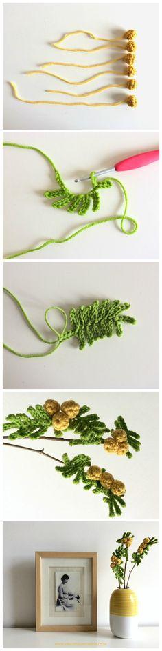 Lo schema uncinetto per le mimose!