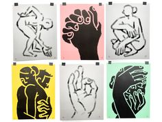 Figure Study Prints designed by Ryan Putnam. Connect with them on Dribbble; Silver Spring, Wedding Thank You Cards, Show And Tell, Tool Design, Pretty Pictures, Print Design, Graphic Design, Study, Prints