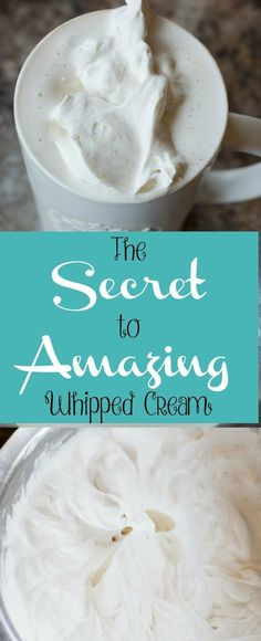 "Tired of just ""meh"" whipped cream? You don't want to miss these two secrets to making amazing whipped cream!"