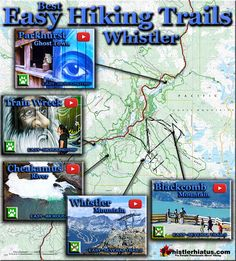 Top 5 Whistler Best Easy Hiking Trails Map
