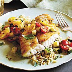 Snapper with Zucchini and Tomato | MyRecipes.com