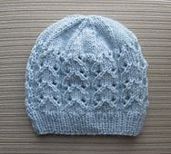 Knitting Pattern 150 Blue Hat with Lacy Columns for a Lady This hat is made on circular needles and does not have a seam. Baby Cardigan Knitting Pattern Free, Baby Hats Knitting, Baby Knitting Patterns, Free Knitting, Knitted Hats, Crochet Hats, Baby Hut, Gilet Crochet, Beanie Babies