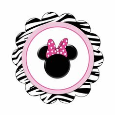 Imprimibles Minnie Zebra.