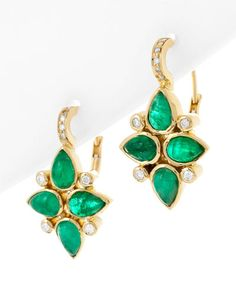Temple St. Clair 18K Emerald & Diamond Earrings