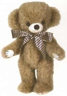 Merrythought L/E Cheeky Mohair Teddy Bear - Edwin. He is just great with his oversized head & low hung ears containing bells!