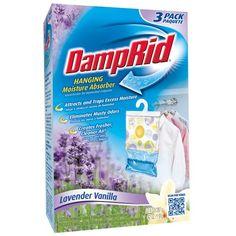 DampRid FG83LV Hanging Moisture Absorber Lavender Vanilla, 3-Pack - http://darrenblogs.com/2015/10/damprid-fg83lv-hanging-moisture-absorber-lavender-vanilla-3-pack/