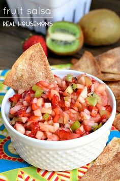 One of the many great fruit salsas featured in Tara Teaspoon's 15 Mind Blowing Fruit Salsa Recipes roundup.