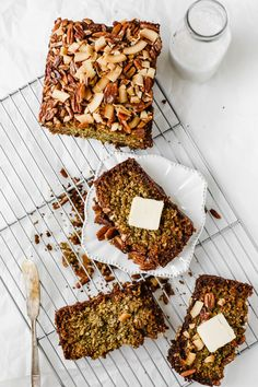 This Vegan Zucchini Bread is truly the BEST! Sweet, warm, and delicious, this recipe is great as a healthy breakfast loaf, snack, or dessert. Make this easy vegan, gluten-free recipe in no time for a wholesome treat that lasts all week long! Quick Bread Recipes, Baking Recipes, Whole Food Recipes, Snack Recipes, Dessert Recipes, Brunch Recipes, Vegan Zucchini, Zucchini Bread, Gluten Free Baking