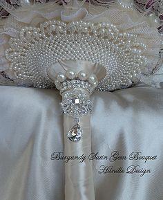 maroon Bridal Brooch Bouquet | Custom Made Bridal Brooch Bouquet Wedding wedding decor | top view