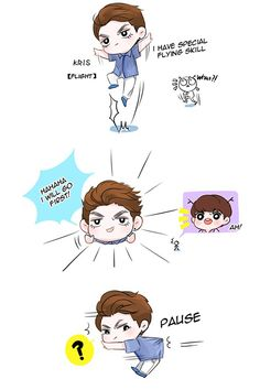 EXO Fanart comic 2  cr: owner