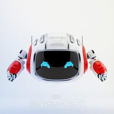 Cutan toy with pixel digital eyes II Robot Eyes, Character Concept, Character Design, Robot Cute, Statue Tattoo, Robots Characters, Robots For Kids, Robot Concept Art, Mascot Design