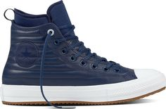 4d9ce8675342 NIB New Leather CONVERSE Chuck Taylor All Star Waterproof Quilted Boot  M6    W8