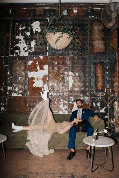 This Fabulous Feminist Wedding at Ace Prop House + Studio Broke Tradition in Style and Sparkles (Junebug Weddings) Loft Wedding, Wedding Blog, Dream Wedding, Wedding Things, Fall Wedding, Wedding Fotos, Prop House, Boho Vintage, Vintage Props