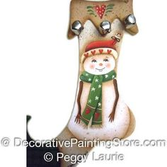 Stocking Snowman-With a Warm Heart ePattern BY DOWNLOAD