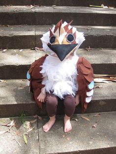 Child's costume for a pre-school play - Kookaburra (Australian bird)