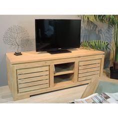 Meuble TV bois en teck Zen 140 BONAREVA