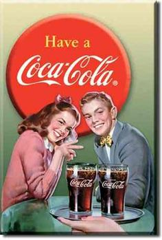 Coca Cola Young Couple Vintage Sign Reproduction - This collection of Coca-Cola signs will enhance any room decor with a touch of nostalgia. Things really do go better with Coke. Vintage Coca Cola You Pin Up Retro, Pin Up Vintage, Vintage Tin Signs, Vintage Ads, Vintage Diner, Retro Style, Coca Cola Poster, Coca Cola Ad, Always Coca Cola