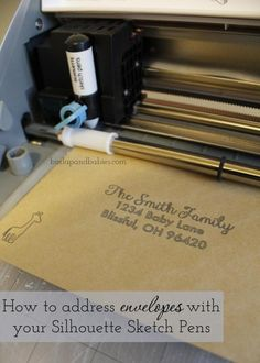 How to address envelopes with Silhouette Sketch Pens - Burlap and Babies