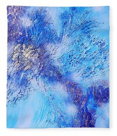 Colors Of Winter Fleece Blanket featuring the painting Abstract Art - The colors of winter by Sabina Von Arx Winter Art, Winter Colors, Original Artwork, Original Paintings, Thing 1, Season Colors, Poster On, All Art, Fine Art America