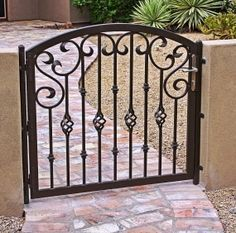 Wrought iron door, gates on Pinterest