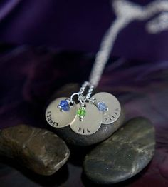 Great Mother's Day gift, Personalized Name Handstamped Mother's Necklace by DistinctlyIvy
