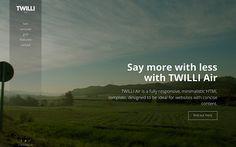 TWILLI Air - Minimalist One-Page Theme