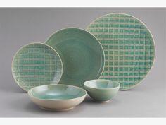 DUNAS BLUES Stoneware Aqua blue reactive glaze platter D34cm - HabitatUK