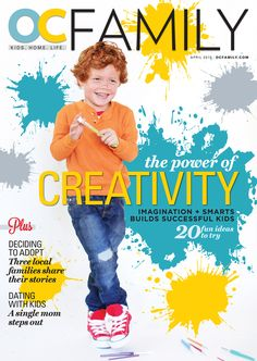 Our cover for April's creativity issue - out on stands next week!