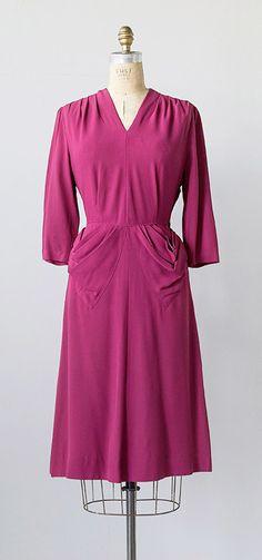 vintage 1940s dress | Crushed Raspberries Dress
