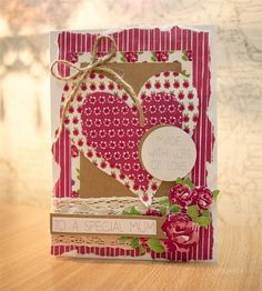 Follow Sarah's tutotial to make this Classic Rose Mother's Day Card. #handmade #cardmaking #craft