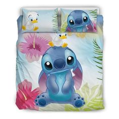 Cute Stitch, Lilo And Stitch, Quilt Bedding, Bedding Sets, Disney Stich, Disney Bedding, Disney Bedrooms, Room Themes, Bed Design